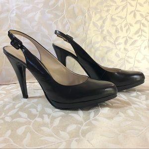 Nine West size 10 Closed Toe Slingback Heels